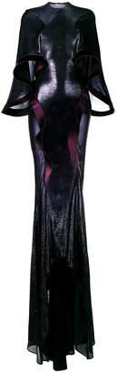 Esteban Cortazar metallic stretch knit gown