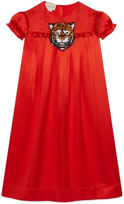 Children's silk dress with tiger $995 thestylecure.com