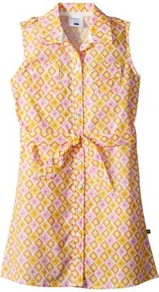 Toobydoo Sunshine Belted Shirtdress Girl's Dress