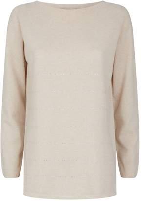 Harrods Crystal-Embellished Stripe Cashmere Sweater