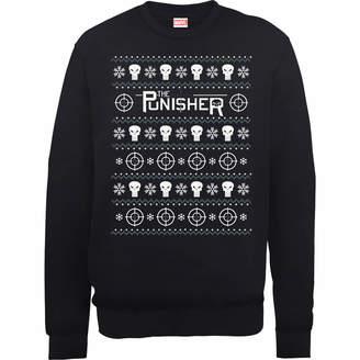 Marvel The Punisher Black Christmas Sweatshirt