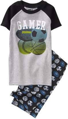 Crazy 8 Crazy8 Gamer Shortie 2-Piece Pajama Set