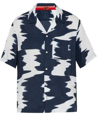 Missoni Tie Dye Print Shirt - Mens - Navy White
