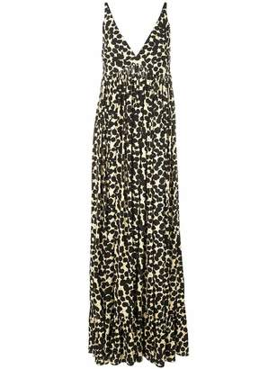 Proenza Schouler V Neck Paint Dot Maxi Dress
