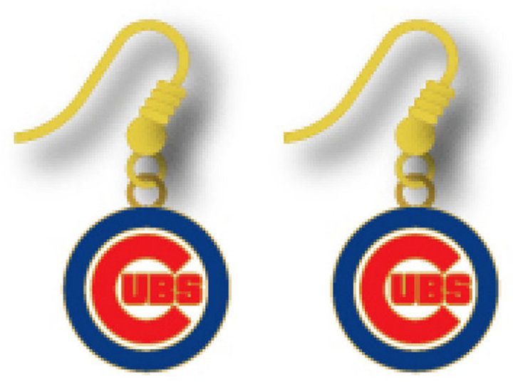 Aminco Chicago Cubs Logo Drop Earrings