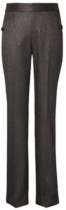 Banana Republic Petite Logan Trouser-Fit Metallic Twill Pant