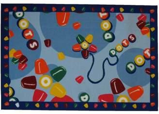 Fun Rugs Generic Tootsie Roll Dots Kids Rugs