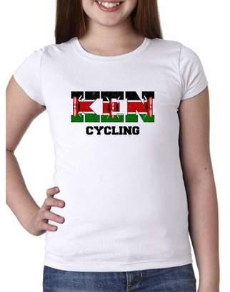 Hollywood Thread Kenya Cycling - Olympic Games - Rio - Flag Girl's Cotton Youth T-Shirt