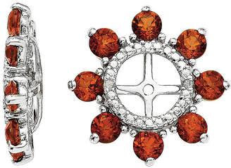 FINE JEWELRY Diamond Accent & Genuine Garnet Sterling Silver Earring Jackets