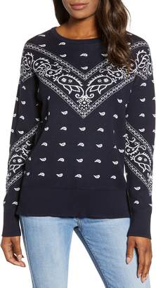 Lucky Brand Bandana Intarsia Sweater