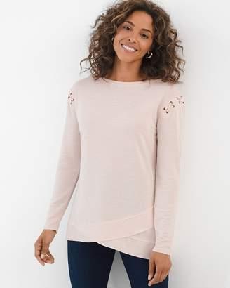 Zenergy Petite Lace-Up Shoulder Tunic