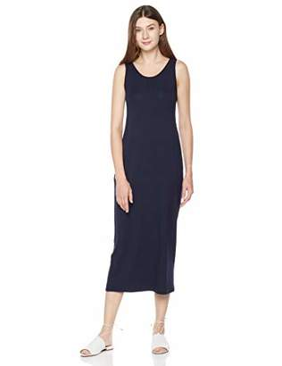 Plumberry Women's Sleeveless Casual Plain Maxi Long Dress with Pocket Black S
