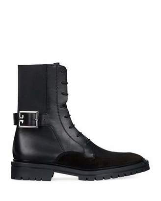 Givenchy Aviator Leather/Suede Ankle Boot