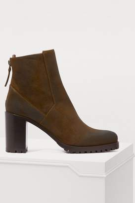 Sartore High-heeled ankle boots with a notched sole
