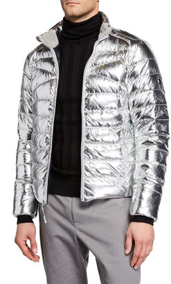 Ralph Lauren Men's Metallic Zip-Front Puffer Jacket