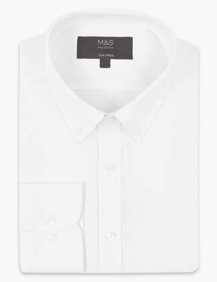 M&S CollectionMarks and Spencer Cotton Rich Tailored Fit Shirt