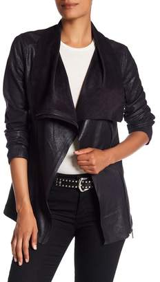 BNCI by Blanc Noir Faux Suede Drape Jacket