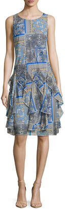 Robbie Bee Sleeveless Belted A-Line Dress-Petites