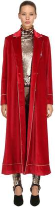 Stella Jean Velvet Robe Coat