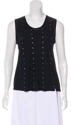 Saint Laurent Embellished Sleeveless Top