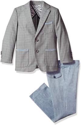 Isaac Mizrahi Little Boys' Slim Contrast Linen 2pc Suit