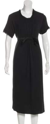 Lanvin Bow-Accented Silk-Trimmed Dress