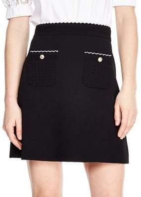 Sandro Classic Textured Skirt