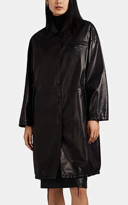 Prada Women's Reversible Leather Trench Coat - Black