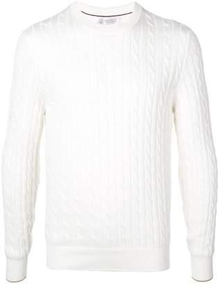 Brunello Cucinelli cable knit jumper