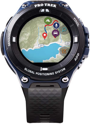 G-Shock Men's Gps Pro Trek Black Resin Strap Touchscreen Smart Watch 61.7mm