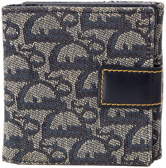 Christian Dior Blue Trotter Canvas Wallet