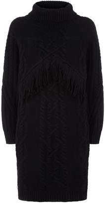 Claudie Pierlot Sweater Fringe Dress