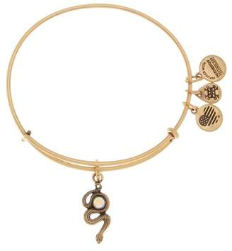 Alex and Ani Crystal Detail Snake Charm Adjustable Bracelet