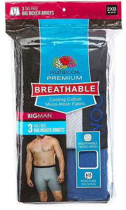 Fruit of the Loom Breathable 1.0 3-pc. Boxer Briefs-Big