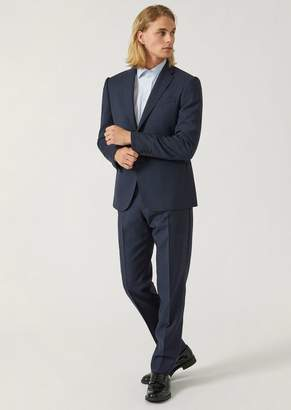 Emporio Armani Slim Fit Suit In Pure Virgin Wool With A Single-Breasted Jacket