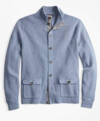 Brooks Brothers Mockneck Button-Front Cardigan