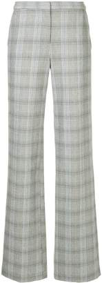 Bianca Spender Prince of Wales check bootleg trousers