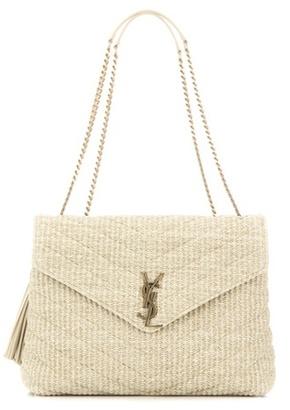 Monogram Medium raffia shoulder bag