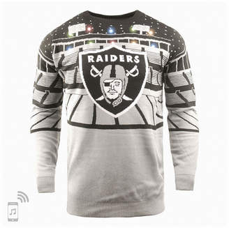 Forever Collectibles Men Oakland Raiders Bluetooth Sweater