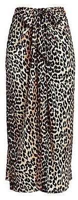 Ganni Women's Silk Stretch Satin Maxi Skirt