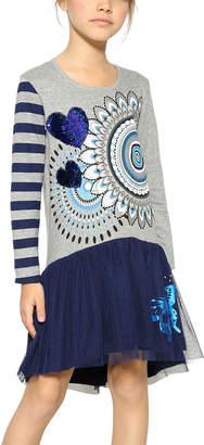 Desigual Rouge Girl Midnight Blue Dress