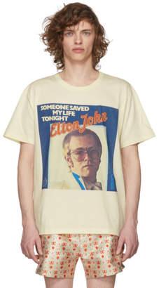 Gucci White Elton John Print T-Shirt