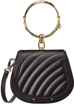 Chloé Small Nile Leather & Suede Shoulder Bag