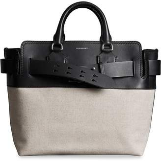 Burberry The Medium Canvas and Leather Belt Bag