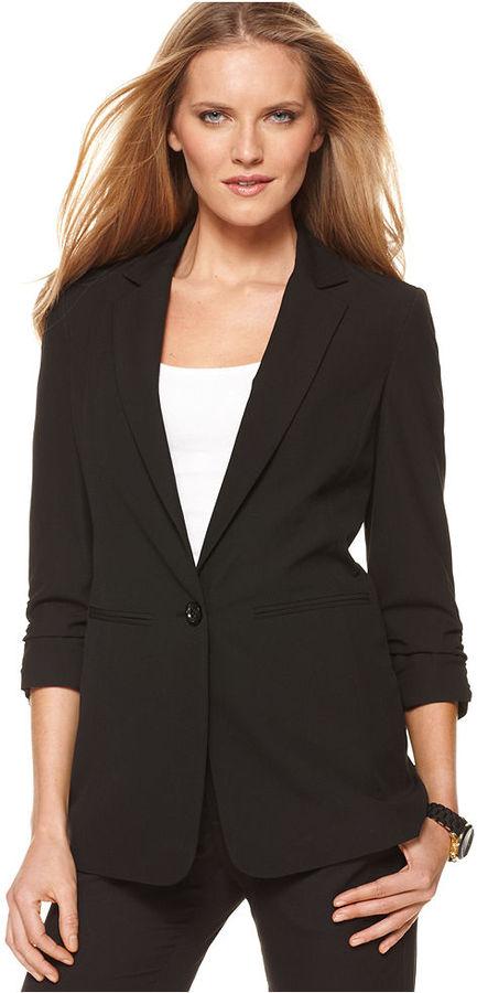 MICHAEL Michael Kors Jacket, Three-Quarter-Sleeve Boyfriend Blazer