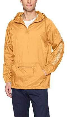 Obey Men's Worldwide Outline Hooded Nylon Anorak Jacket