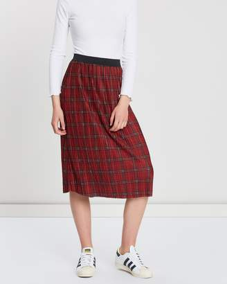 2c4d4b8d7 Cotton On Woven Dolly Check Pleated Midi Skirt