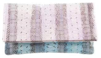 Carlos Falchi Watersnake Fold-Over Clutch