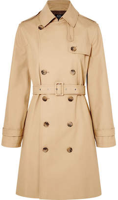 A.P.C. Josephine Cotton-gabardine Trench Coat - Beige