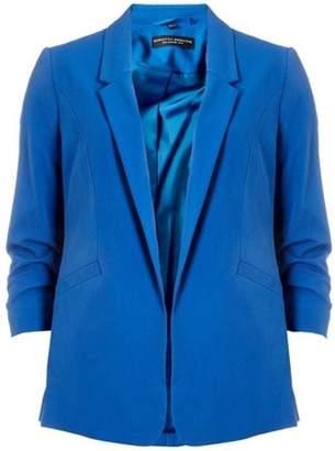 Dorothy Perkins Womens Cobalt Ruched Sleeve Jacket